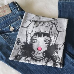 Tops - NWOT Edgy/Cute Anime-like Character T-shirt